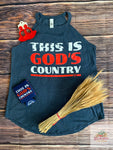 Gods country women's high neck tank