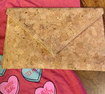 Cork clutch gold inlay