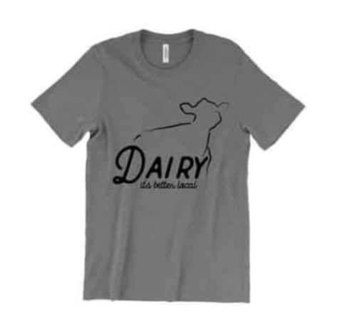 Dairy Its better local tee Grey