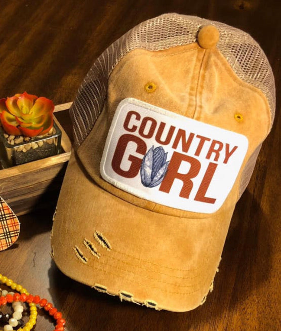 Country girl summer hat