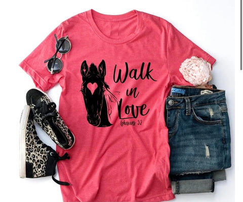 Walk in love tee