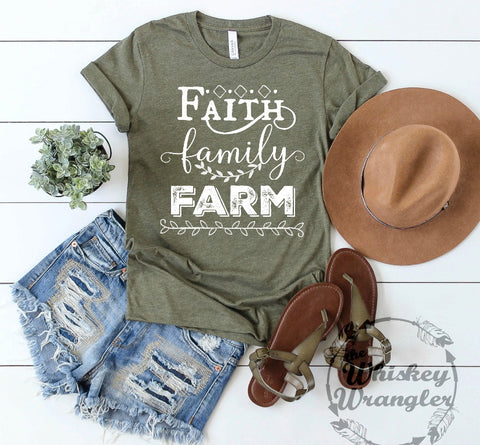 Faith family farm army green