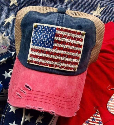 Flag leopard hat