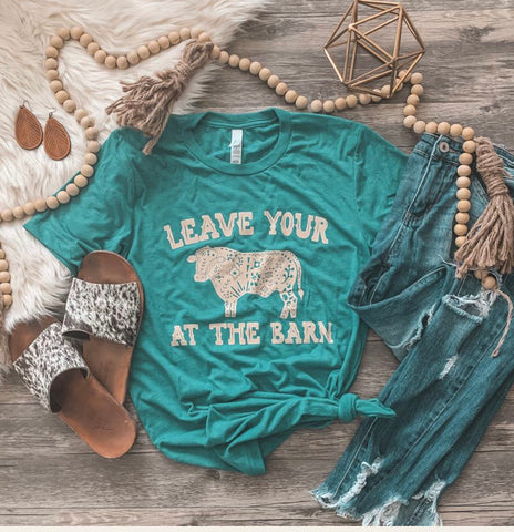 Bull at the barn unisex women's t shirt