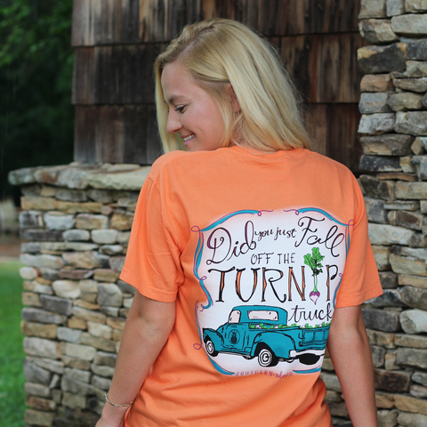 Did you fall off the turnip truck? Womens Unisex Tshirt