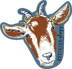 Worry the horns off a billy goat Decal