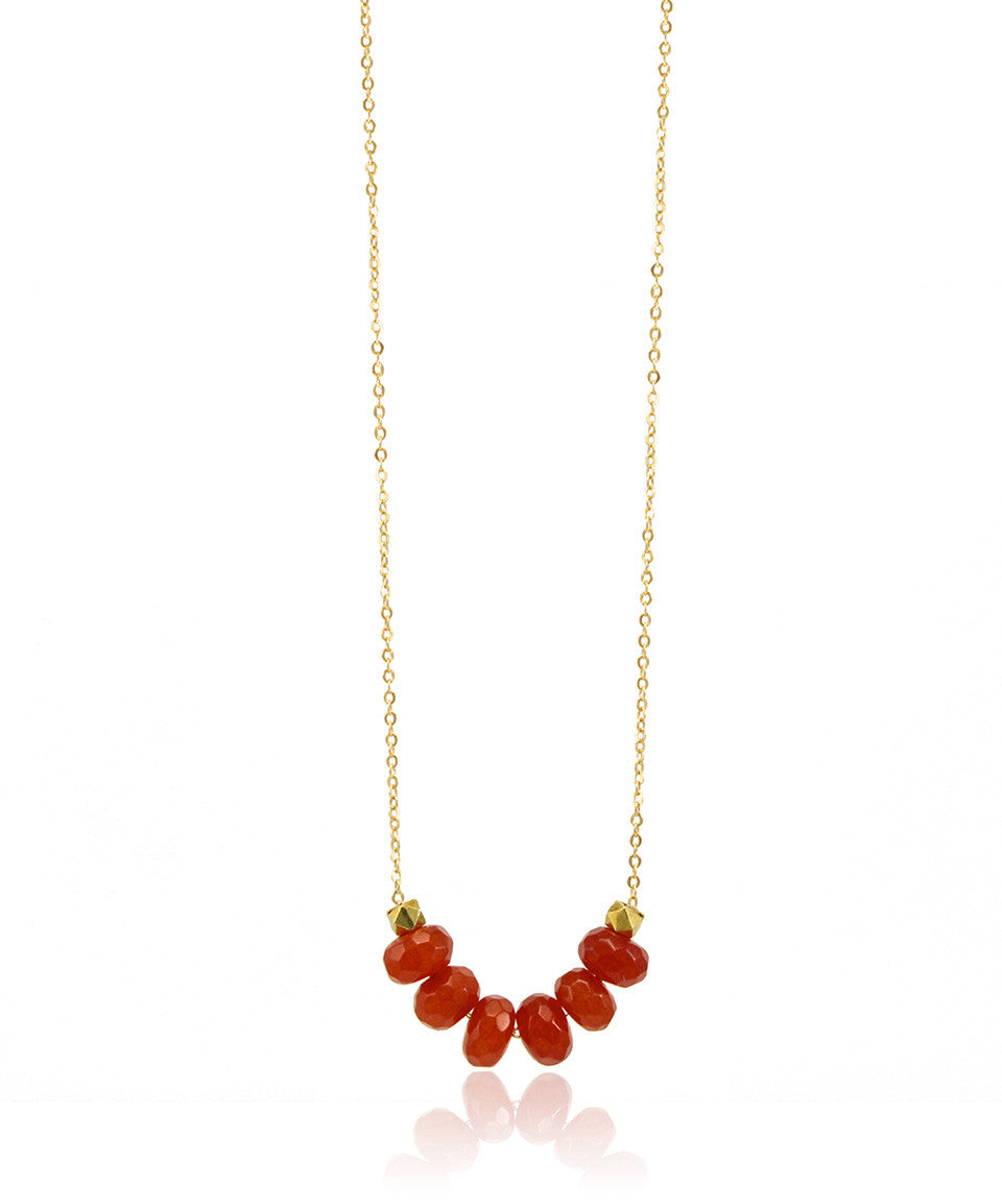 Blood Orange Skies Necklace - Devin Krista Jewelry