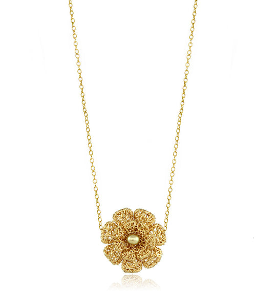 Caged Flower Necklace - Devin Krista Jewelry
