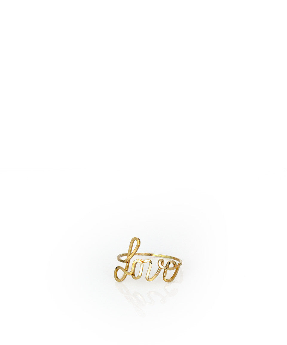 Custom Cursive Word Ring - Devin Krista Jewelry
