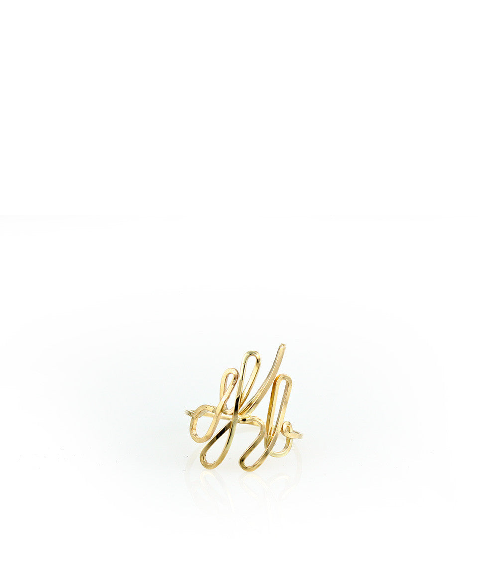 Custom Monogram Ring - Devin Krista Jewelry