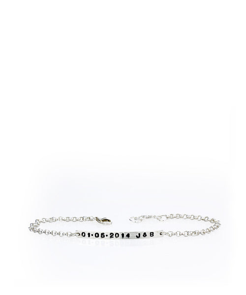 Custom Stamped Bar Bracelet - Devin Krista Jewelry