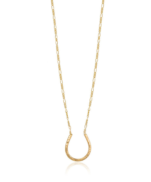 Hammered Horseshoe Necklace - Devin Krista Jewelry