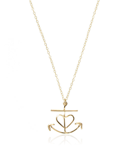 Heart Anchor Necklace - Devin Krista Jewelry