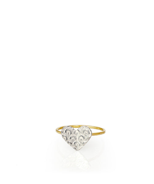 Heart Fish Scales Ring - Devin Krista Jewelry