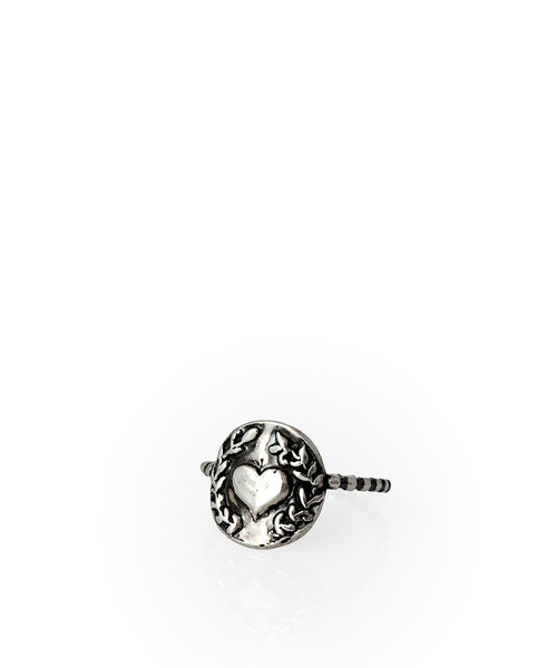 Heart Wreath Charm Ring - Devin Krista Jewelry