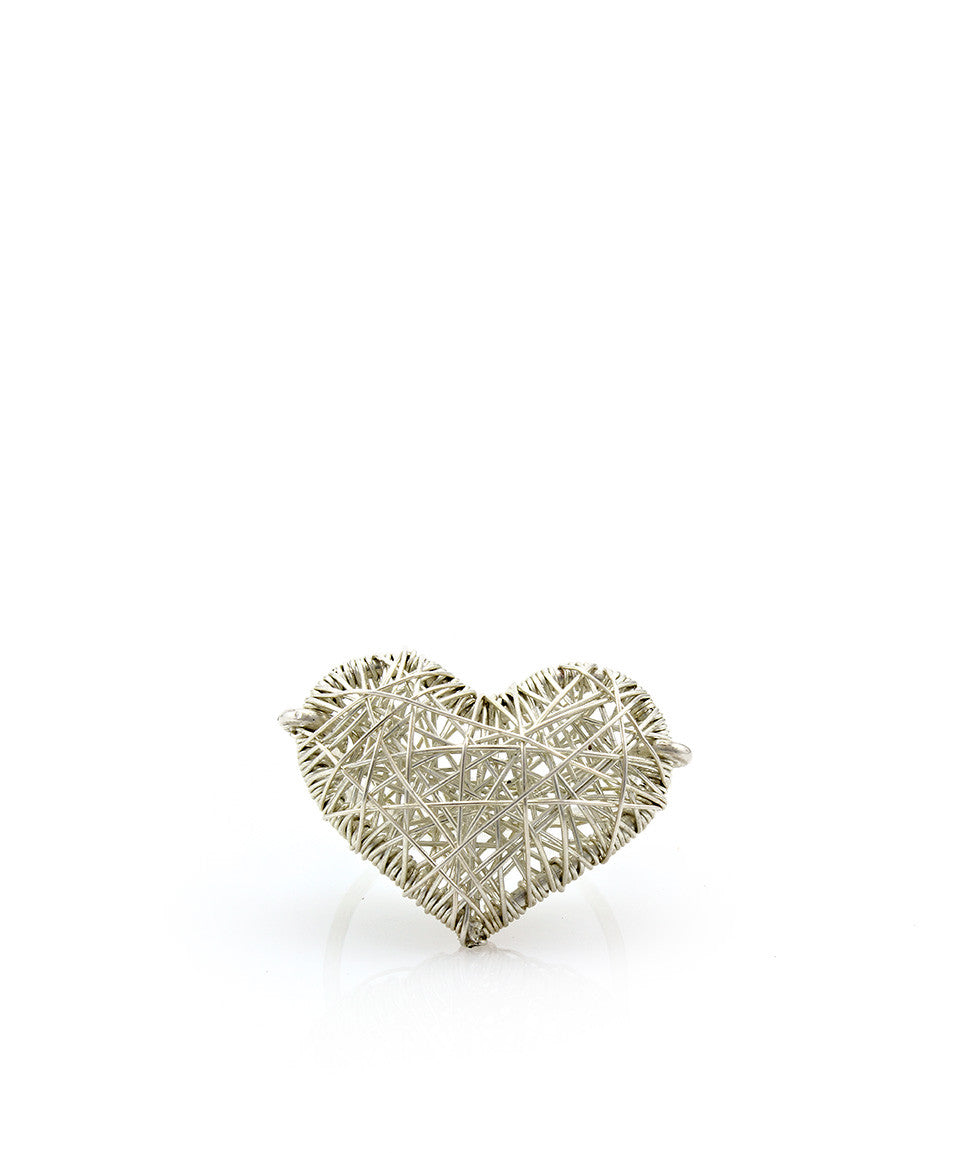 Large Caged Heart Ring - Devin Krista Jewelry