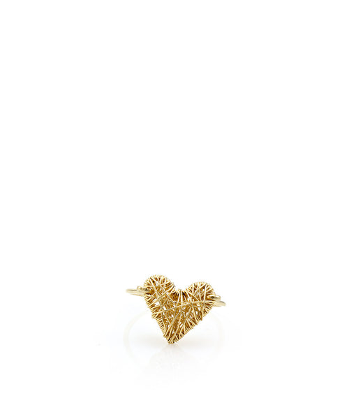 Mini Caged Heart Ring - Devin Krista Jewelry