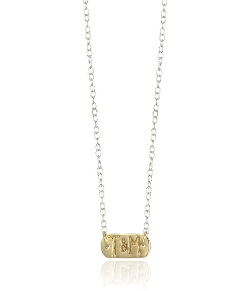 Mini Gold Tag Necklace - Devin Krista Jewelry