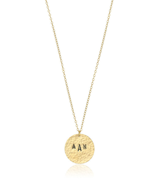 Custom Monogram Disc Necklace - Devin Krista Jewelry