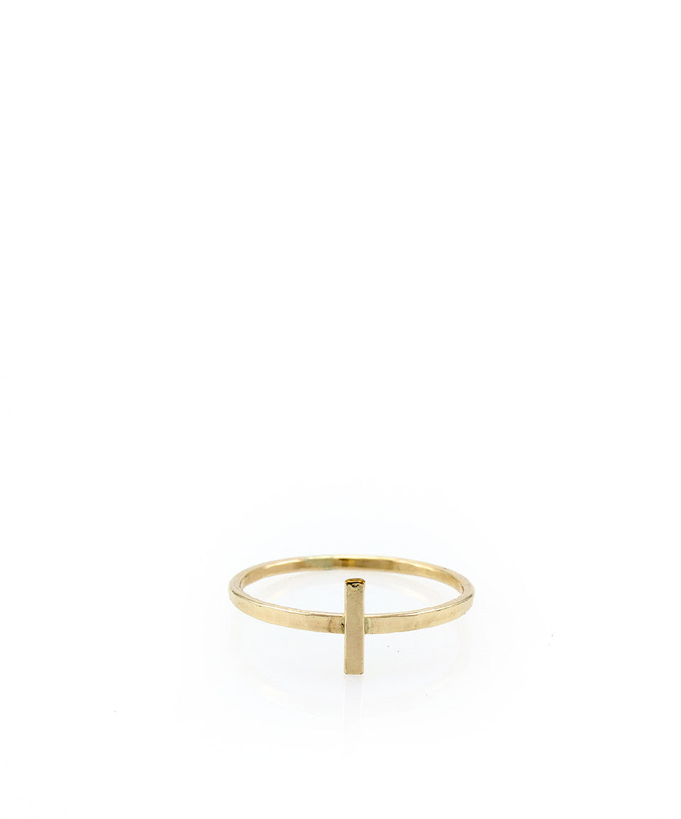 Sideways Cross Ring - Devin Krista Jewelry