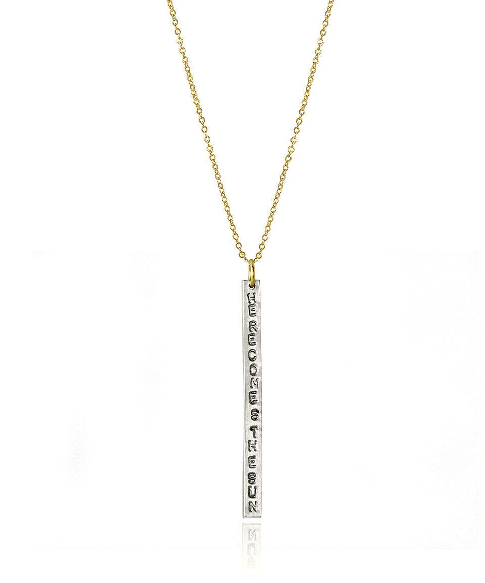 Custom Bar Necklace - Devin Krista Jewelry - 1