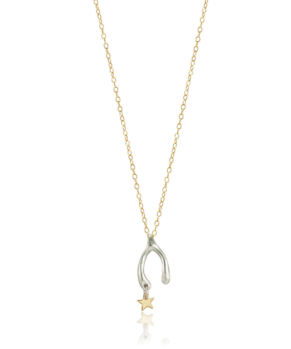Small Wish Upon A Star Necklace - Devin Krista Jewelry