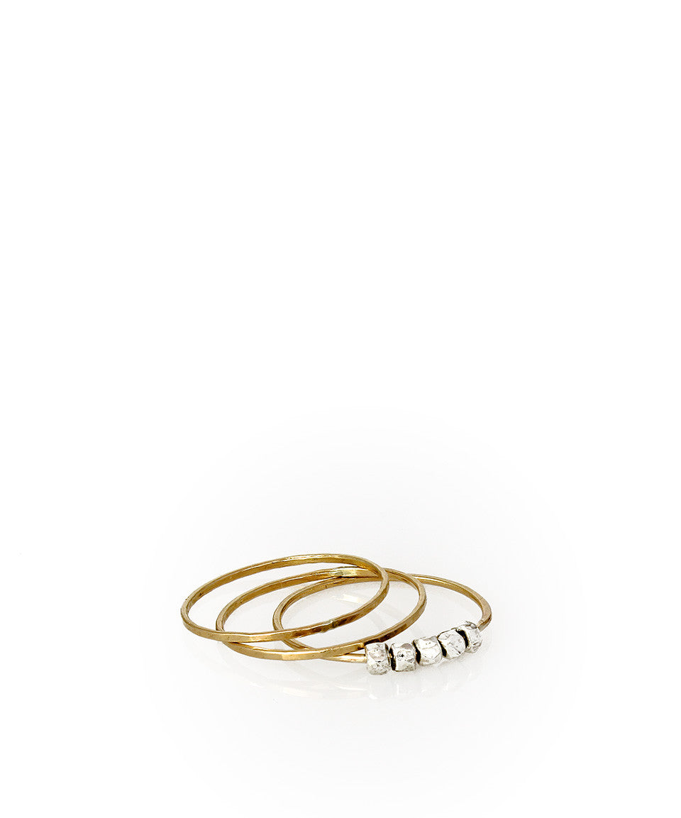 Stackable Nugget Ring - Devin Krista Jewelry