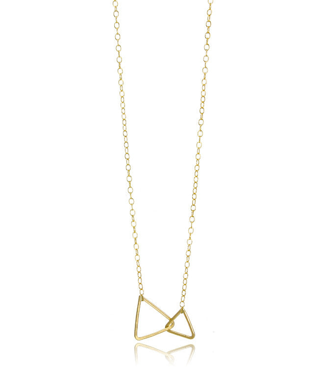 Triangle Link Necklace - Devin Krista Jewelry
