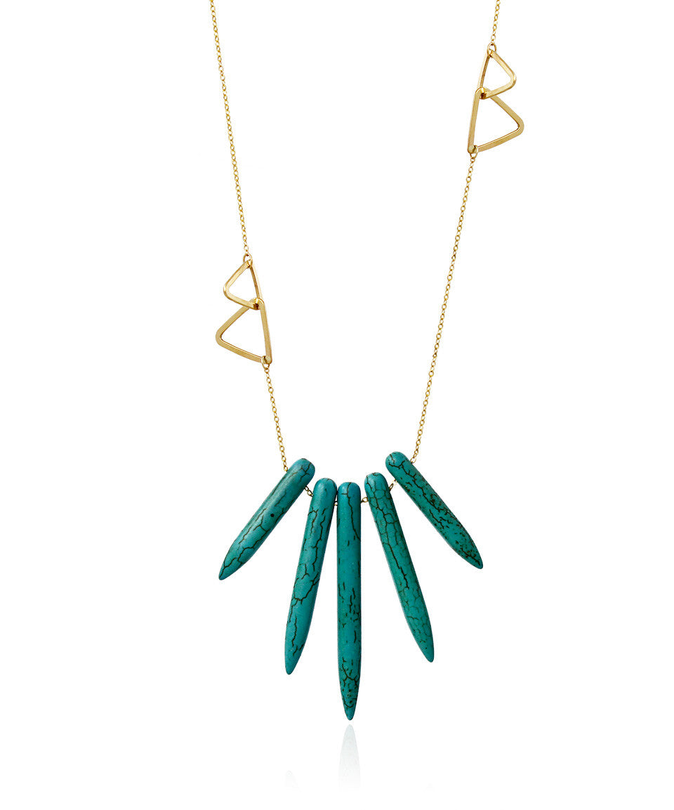 Turquoise Spear Necklace - Devin Krista Jewelry