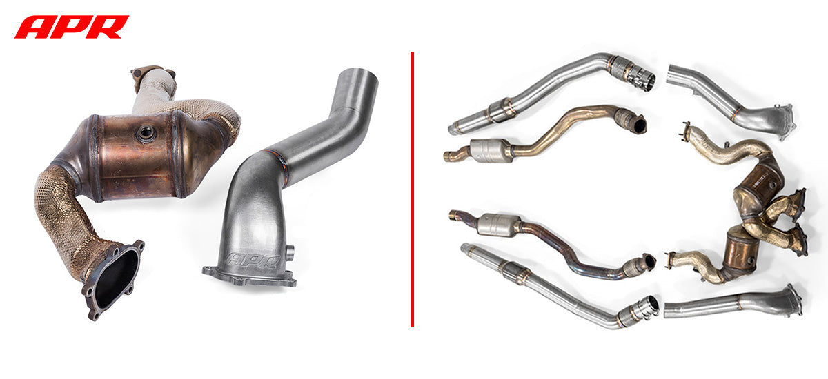 apr tuning 4.0TFSI Downpipe Exhaust System DPK0014 apr tuning dealer