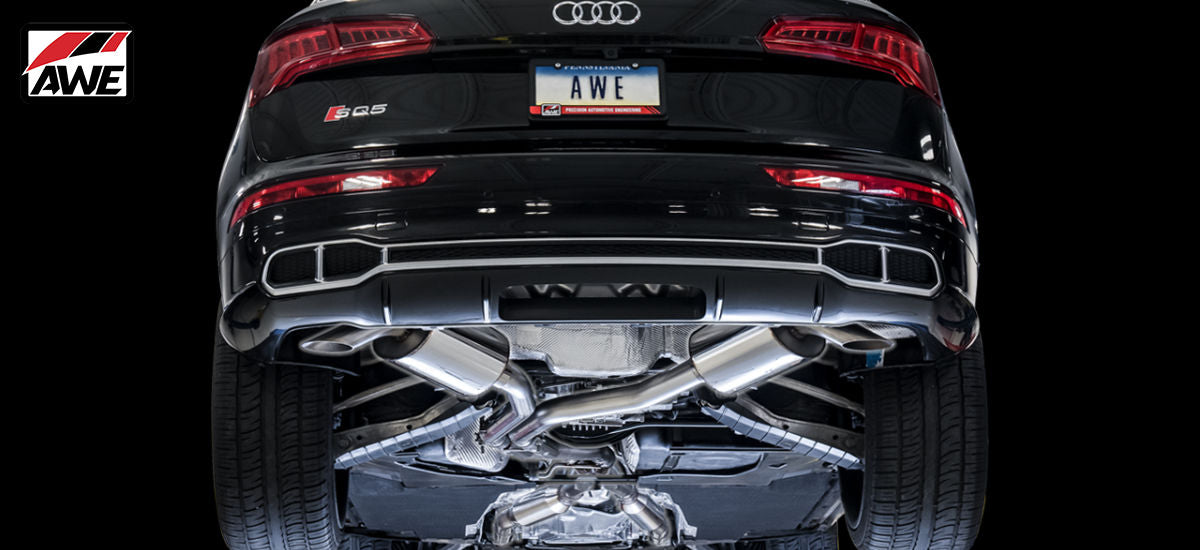 AWE Tuning Touring Edition Non-Resonated Exhaust System TurnDowns Audi SQ5 B9 | AWE 3020-31022