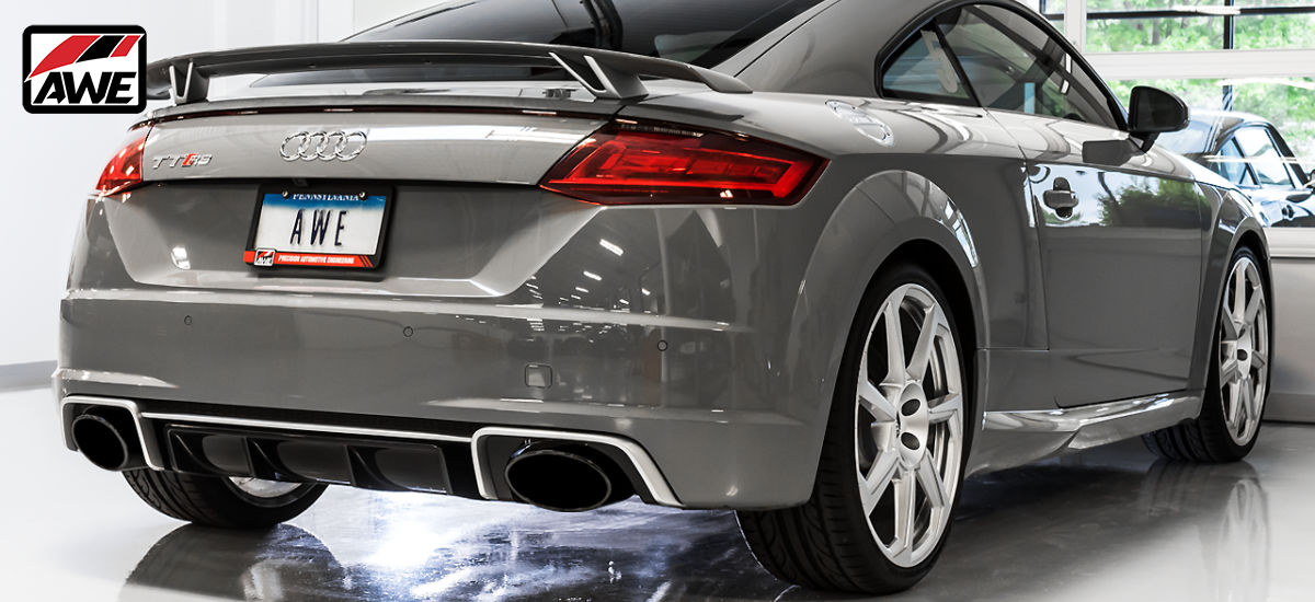 AWE Tuning SwitchPath Exhaust System Black RS Tips Audi TTRS MK3   AWE 3025-33032