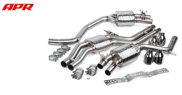 APR Tuning S6 S7 C7 C7.5 4.0TFSI Catback Exhaust System w/ Center Muffler