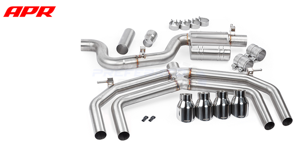APR Tuning S3 MK3 Catback Exhaust System w/o Valves & Mufflers