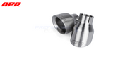"APR Tuning Slash-Cut Double-Walled 4.0"" Bushed Silver Exhaust Tips (set of 2)"