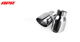 "APR Tuning Slash-Cut Single-Walled 3.5"" Polished Silver Exhaust Tips (set of 2)"