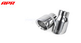 "APR Tuning Slash-Cut Double-Walled 3.5"" Polished Silver Exhaust Tips (set of 2)"