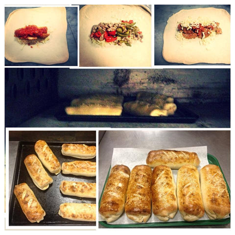 Sausage & Peppers Stuffed Bread