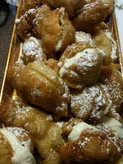 Zeppoles Stuffed with Gianni's Cannoli Cream