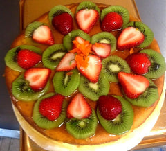 Authentic Italian Cheesecake Topped with Fresh Fruit