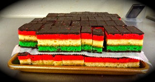 Seven Layer Cookies AKA Rainbow Cookies