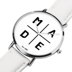 Full Face Silver 'Divine' MADE Watch