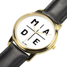 Load image into Gallery viewer, Full Face Gold 'Luxe' MADE Watch