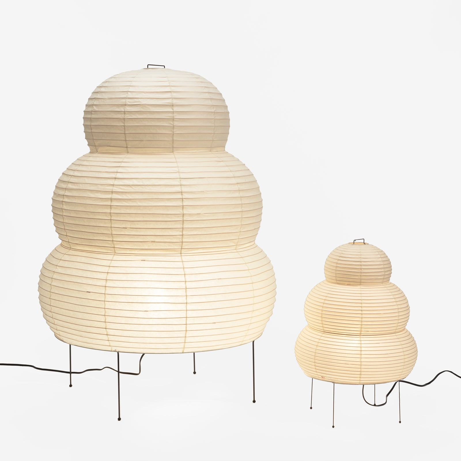 Akari 24N (small) and 25N (large) light sculptures