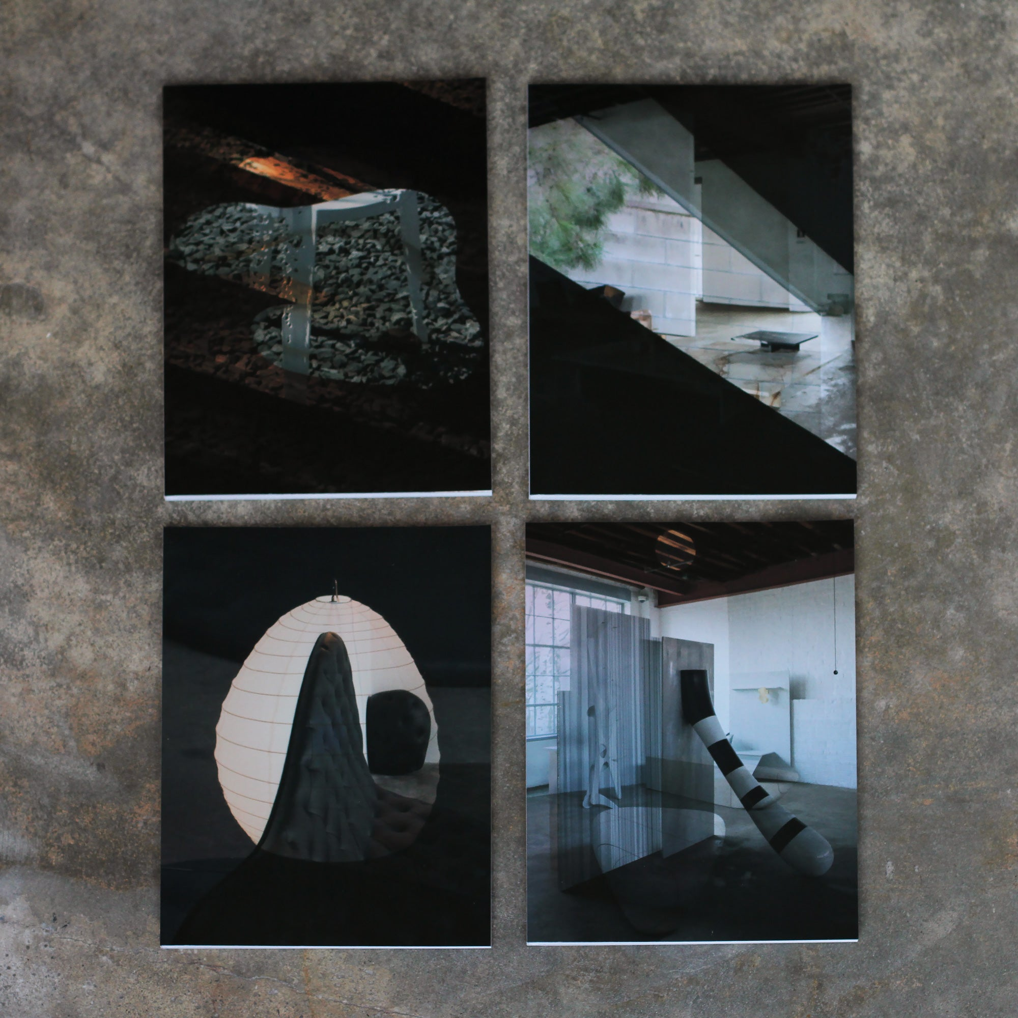Front covers, four different versions with overprinted installation photographs