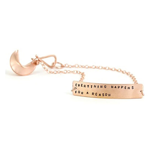 FORTUNE COOKIE BRACELET GOLD