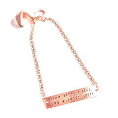 FORTUNE COOKIE BRACELET ROSE GOLD