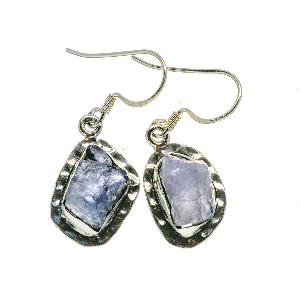 925 Silver and rough stone Tanzanite Earrings