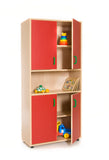 Storage furniture: Cupboard, 4 doors + bookcase