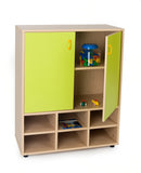 6 compartments + cupboard